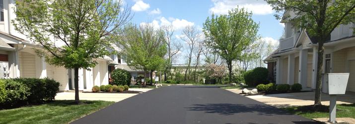 commercial asphalt repair after photo