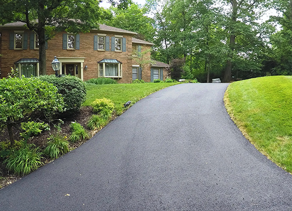 residential asphalt paving after photo
