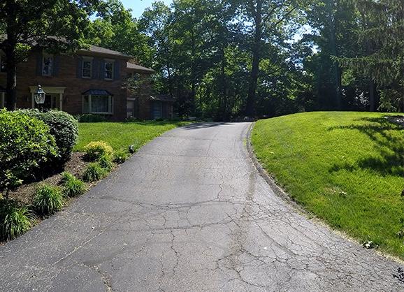 residential asphalt paving before photo